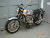 1972 BMW R75/5 silver with toaster tank. This bike is
