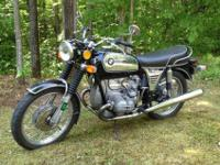 This R75/5 has a 5 speed transmission rather of the