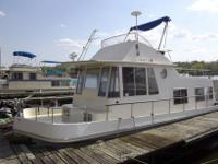 1972 37 FT Boatel Tradewinds with flybridge.Recently