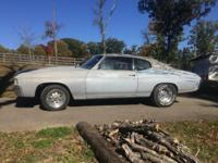 1972 Chevelle Malibu. Running driving project. 350 with
