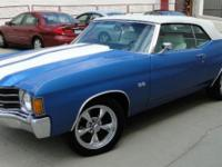 Look into this stunning blue and white Chevelle SS