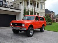 1972 Chevrolet Blazer K5, 4X4, rebuilt and balanced 350