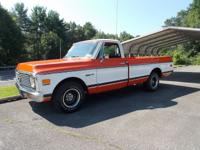 Up for sale is a very cool 1972 Chevy Pick Up 2WD,