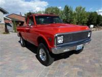 1972 Chevrolet K10 Classic short box 4 x 4. Frame off