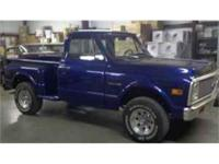 1972 Chevy C10 4x4 stepside pickup. Older restoration.