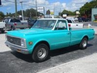 1972 CHEVROLET C10, 350 V8, AUTOMATIC, NEW HOLLEY CARB,