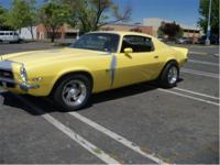 1972 Camaro Z28. Solid west coast car, 350 motor,4speed