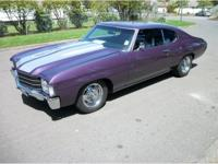 1972 Chevrolet Chevelle, nice metallic purple paint