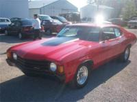 Original 454 Chevelle. 2 Door,2 Wheel Drive,Rear Wheel