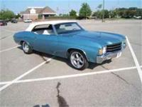 Beautiful 1972 Chevelle Convertible. Ascot Blue, White