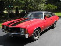 For sale is a numbers matching 1972 Chevrolet Chevelle