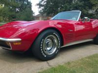 1972 Corvette Convertible with hardtop. Runs and drives