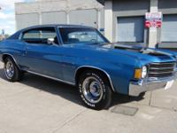 1972 Chevrolet Malibu 350. Mulsanne Blue with black SS
