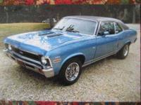 1972 Chevrolet Nova in Excellent Condition Sky Blue