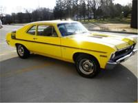 1972 Chevrolet Nova SS 350 V8 4 Speed Numbers Matching.
