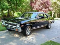 1972 Chevy Nova Super Sport, triple black, Muncie 4