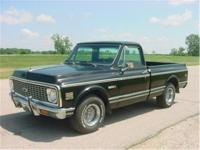 1972 Chevrolet 1/2 ton short box, fleetside pickup.