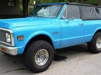 9/24/12 - Must Sell! This 1972 Blazer K5 represents a