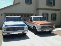 2' 72 CHEVROLET C-10 TRUCKS, They BOTH run EXCELLENT!