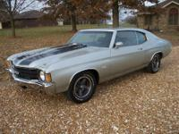 1972 CHEVY CHEVELLE MALIBU A REAL BIG BLOCK SS CAR. HAS