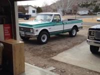 1972 Chevrolet Cheyenne Super 3/4 Ton 4X4 Pickup for