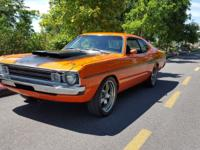 1972 Dodge Dart 340 V8 Sport Demon Orange and Black.