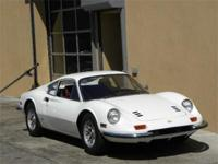 1972 Ferrari 246GT. White with red interior. US Car. 2