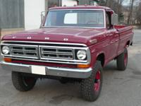 1972 Ford F-250 Highboy 4X4. This truck was completely