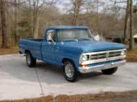 This is a nice 1972 Ford F-250 long bed. Has 123k miles