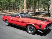 This Mustang convertible has the Mach 1 hood the Go