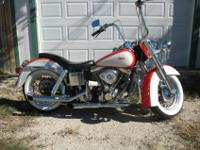 This is a 1972 Harley FLH custom-made