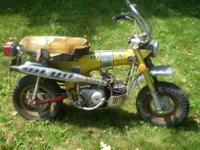 For sale is a 1972 Candy Yellow Special Honda K1 CT70