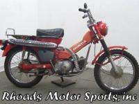 1972 Honda Trail 90 with 4,736 Miles This is one of the
