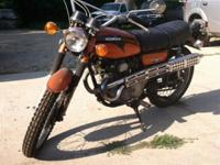 1972 Honda Scrambler 175, in good condition. With just