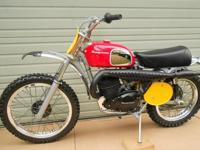 Very nice vintage dirt bike. Many new parts. After