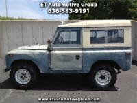 Here we have a 1972 Land Rover Series III that is being
