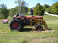 1972 Massey 1100 with freeman frontend loader needs a