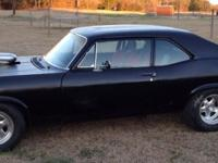 1972 Chevy Nova with custom-made 388 stroker. Has new