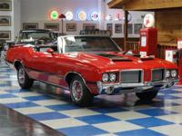 1972 Olds 442 (clone) convertible painted in Matador
