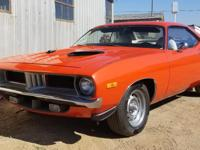 1972 Plymouth Barracuda 340 Coupe Automatic.  Coded