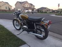 1972 Triumph T120RV  650 cc.  restored to original