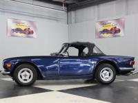 Stk#117 1972 Triumph TR6 Painted Blue with a new Black