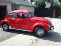 RARE RECENTLY RESTORED 72 VW RED RELIC RUNS LIKE A RACE
