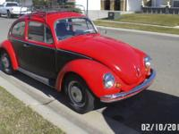 1972 VW Super Beetle Low Miles on a newly rebuilt