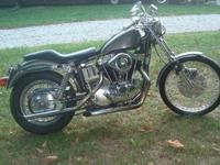 1972 Harley-Davidson 1000cc XLH Sportster with a clear
