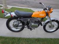 1972 Yamaha DT2 250 enduro, restored to the original