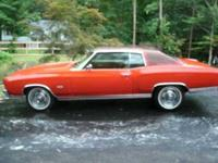 1972 Chevrolet Monte Carlo in Excellent Condition Red