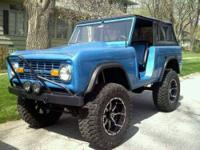 Electric Blue 1972 Custom Ford Bronco in Phenomenal