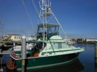 This 1973 Bertram 35 SF is powered by TWIN Cummin's
