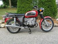 1973 BMW R60/5 with an R90/6 top end. I am selling this